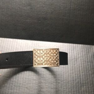 Men's Coach Logo buckle reversible belt